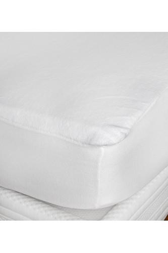 Protège matelas imperméable microfibre 100% polyester PU, forme drap housse bonnet extensible 30 à 35 cm