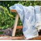 Plaid jacquard en coton stonewashed 100% coton