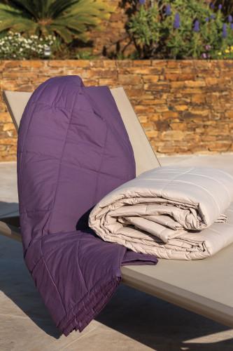 Couvre lit en coton lavé