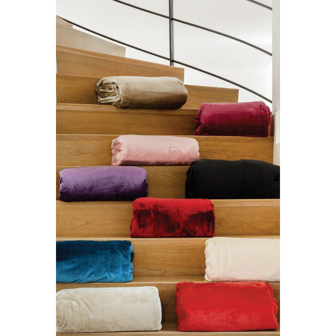 Couverture microvelours 100% polyester