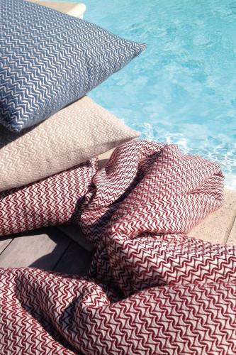 Coussin déhoussable 100% coton peigné stonewashed