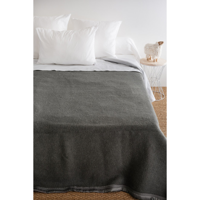 Couverture laine double face 100% laine Woolmark - 500g/m²