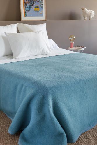 Toison d'or - Couverture en laine double face, 100% laine Woolmark - 600g/m²