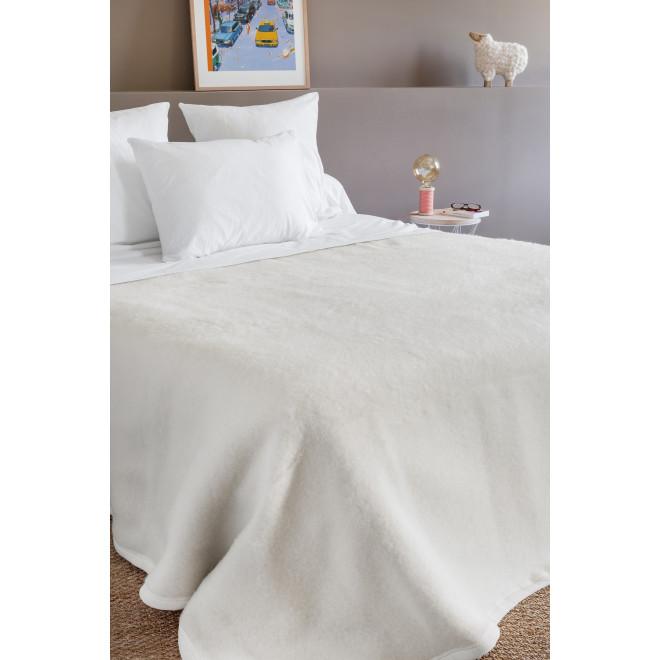 Couverture en laine double face, 100% laine Woolmark - 600g/m²