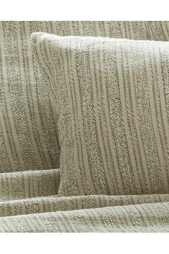 Coussins en tissu jacquard avec fil flammé bicolore, motif rayures
