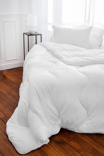 Couette microduvet, enveloppe microfibre 100% polyester, tissu effet seersucker